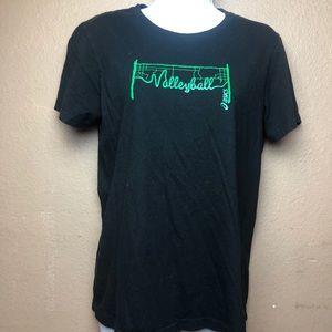 ASICS Volleyball Short Sleeve Shirt Sz L
